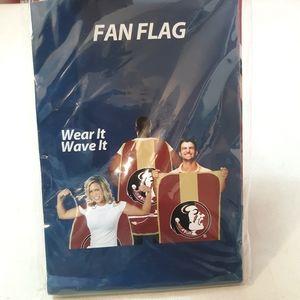 FSU Fan Flag Wear It Wave It
